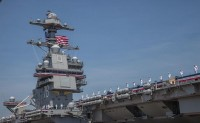 """新一代""""福特""""级核动力航母首舰""""杰拉尔德·福特""""号正式服役"""