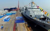 901级综合补给舰首舰呼伦湖舰正式服役