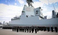 """澳大利亚海军首艘宙斯盾驱逐舰""""霍巴特""""号服役"""