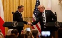 特朗普总统和波兰总统杜达在联合记者招待会上的讲话