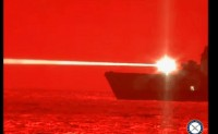 美海军完成150千瓦固态激光武器舰上测试