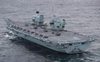 """美英在""""伊丽莎白女王""""号航母上联合部署最大规模F-35机群"""