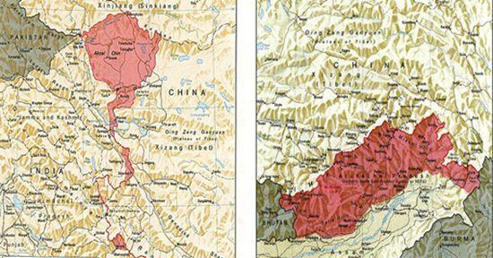 中印边境东西两段