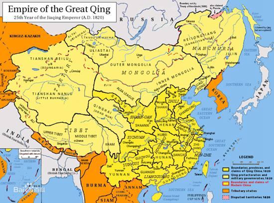 1820年清帝国全图
