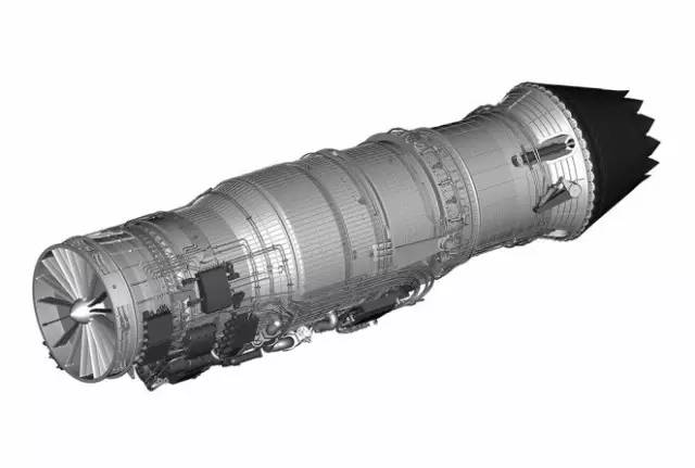 通用电气公司自适应发动机外形示意图