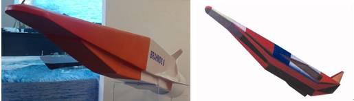 布拉莫斯-2导弹与HSDTV的外形比较