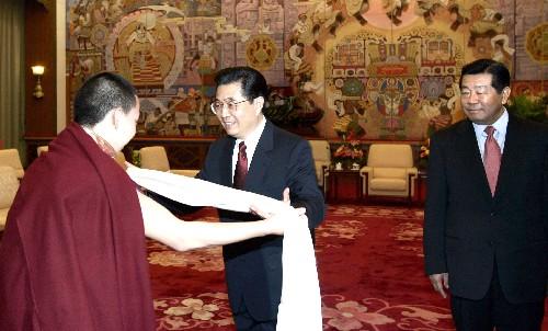 胡锦涛接见十一世班禅