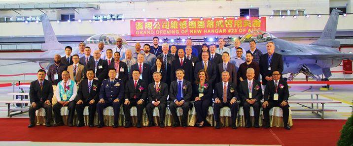 汉翔公司启用台湾最大军机棚厂 可同时容纳24架F-16