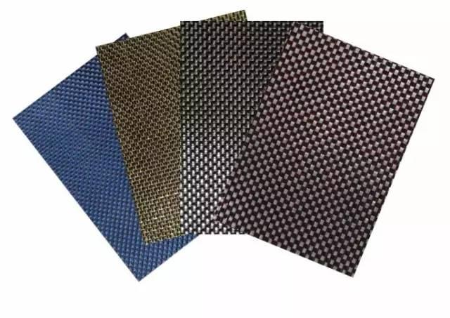 国产彩丝混编织物及预浸料