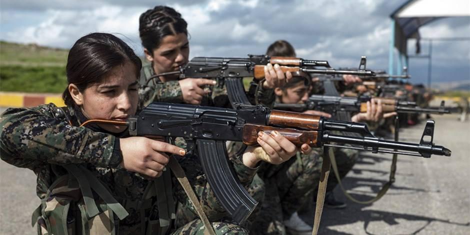 库尔德女兵