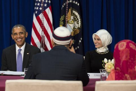 """奥巴马访问""""巴尔的摩伊斯兰社区"""""""