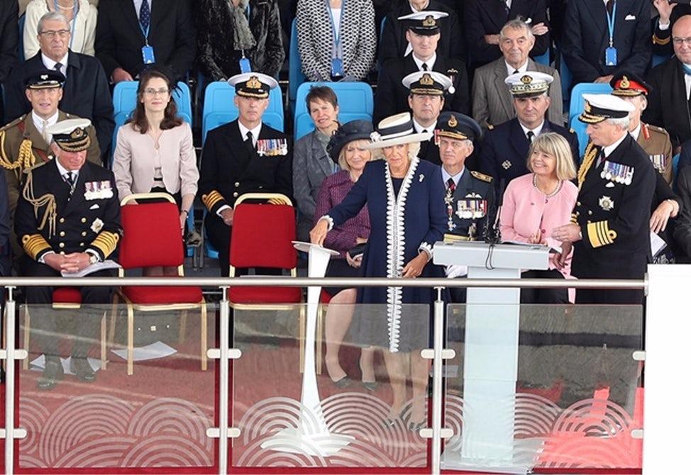 威尔士亲王号航母命名仪式