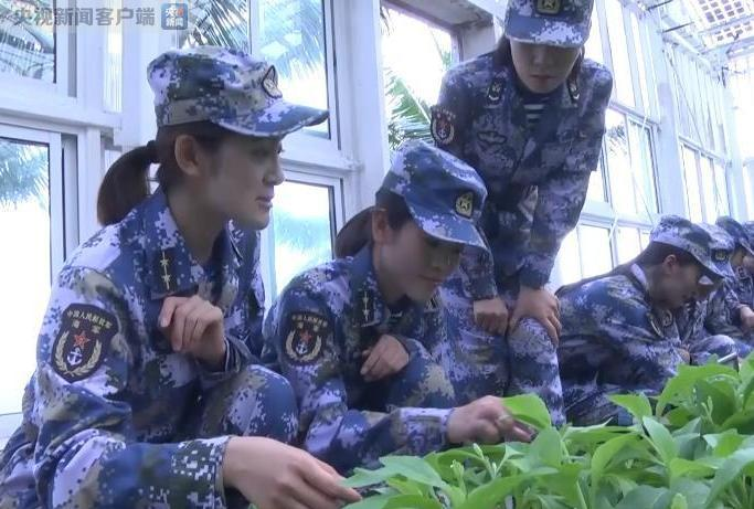 南海守礁女兵