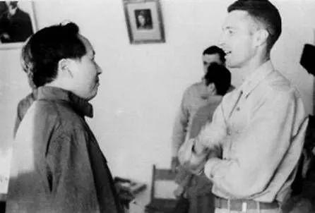 毛泽东和约翰·谢伟思在延安