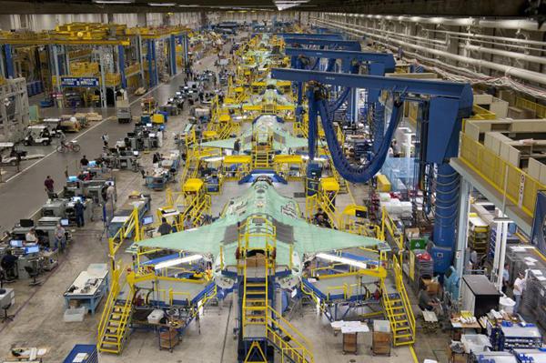 F-35 production line
