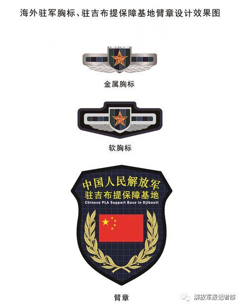 海外驻军胸标臂章