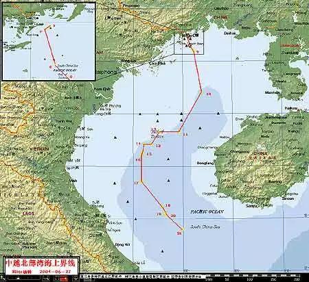 北部湾界图