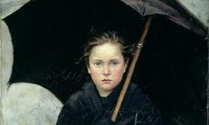 The Umbrella (1883) by Marie Bashkirtseff