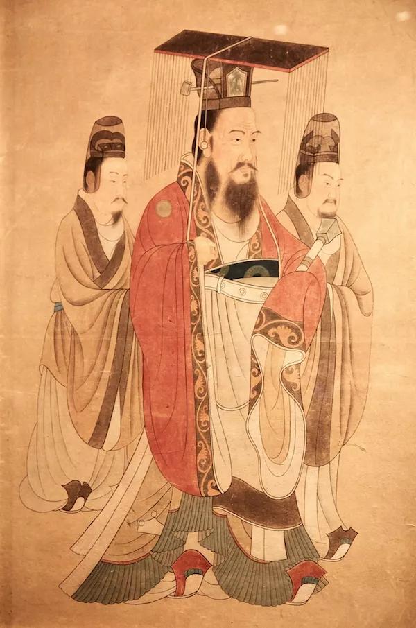 国家博物馆馆藏隋炀帝杨广画像-wps图片