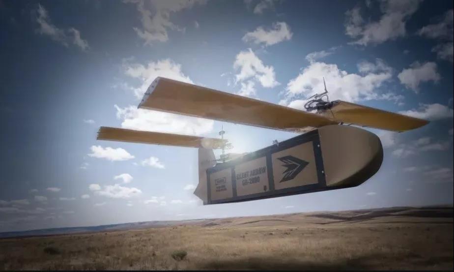 """飞行中的""""静寂之箭""""GD-2000货运无人机"""